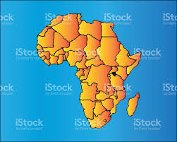 African Continent Map Map Of Africa The African Continent With Separable Borders Stock