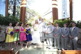 rainbow coloured bridesmaid dresses