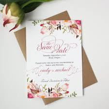 rustic save the date cards blush pink save the date card