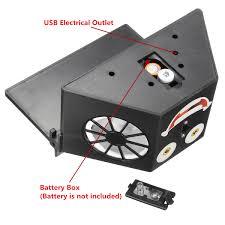 usb powered car fan solar powered car window dual blades air vent ventilator fan
