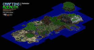 World Of Warcraft Map World Of Warcrafts Azeroth Remade In Minecraft Beauteous Map World