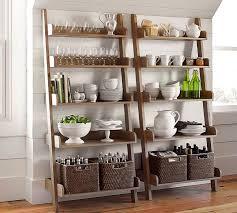 5 Tier Bookshelf Ladder Studio Wall Shelf Pottery Barn