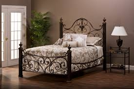 bedding pretty wrought iron bed frame affinity mink