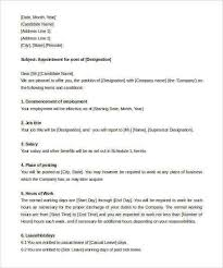 Resume Of Job Application by 33 Appointment Letter Templates Free Sample Example Format