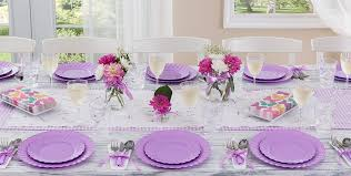 Decorative Plastic Plates For Wedding Lavender Tableware Lavender Party Supplies Party City