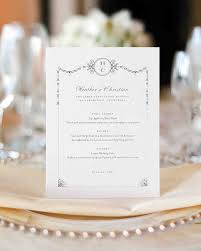 wedding menu cards best wedding menu cards from real celebrations martha stewart