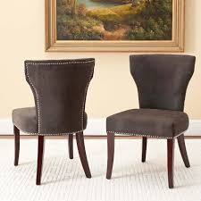 Upholstery For Dining Room Chairs Safavieh Mason Dark Gray Upholstered Nailhead Dining Side Chairs