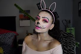 bunny face makeup easy easter bunny face paint make up tutorial