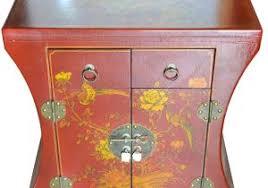 canap asiatique de chevet bout canap chinois h v a 1 tiroir plateau avec table