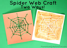 Halloween Craft Pictures by Two Spider Web Halloween Crafts