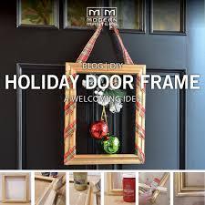 diy door frame christmas diy holiday door frame modern masters cafe blog