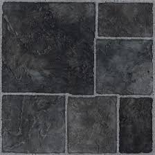 colours black stone effect self adhesive vinyl tile 1 02 m pack