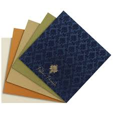 wedding cards in india indian wedding card in royal blue and golden wedding invitations