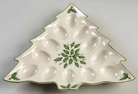 christmas deviled egg plate dimension tree shaped deviled egg plate by lenox
