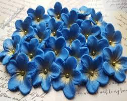 edible blue flowers gum paste flowers etsy