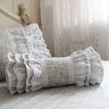 canapé princesse brodé impression coussin décoratif literie oreiller pastorale