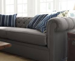 Linen Chesterfield Sofa by Quick Ship Chesterfield Upholstered Sofa Pottery Barn