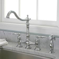 bridge faucets for kitchen charelstown bridge style 2 handle chrome kitchen faucet