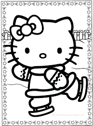 coloring sheets hello kitty christmas printable valentine pages