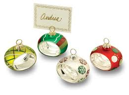 ornaments as place card holders new year info 2018