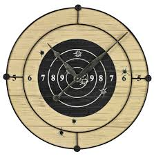Funky Wall Clocks Target Practice Wall Clock By Sterling Novelty Wall Clocks