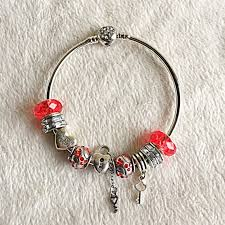 heart bracelet charms images Pandora jewelry new look key 2 my heart red charm bracelet jpg