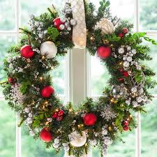 Christmas Wreath Ideas christmas window decorations wreath  White