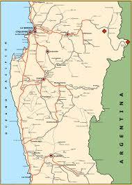 Map Chile Map Of Chile U0027s Iv Region La Serena Coquimbo Ovalle Los Vilos