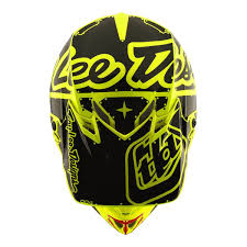 green motocross helmets troy lee designs se4 polyacrylite off road racing motorcycle mx