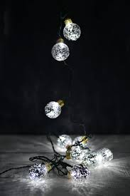 silver mercury glass look globe lights 10ct 10ft