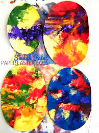 paper easter eggs smush paint paper easter eggs our kid things