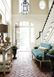 seriously fancy entry the herringbone brick floor does it