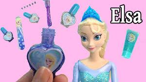 disney frozen queen elsa sparkle make up set nail polish body
