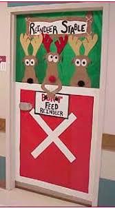 reindeer door decoration bulletin board diy u0026 crafts that i love