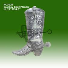 Cowboy Boot Planter by Urns Planters Hatley Castings