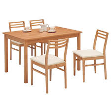 natural wood kitchen table and chairs samurai furniture rakuten global market dining set dining five