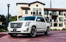 build a cadillac escalade california wheels cadillac escalade on savini forged sv26 custom