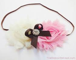 flowers for headbands make flower headbands with elastic ribbon the ribbon
