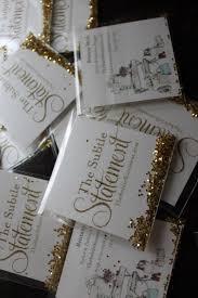 weekend diy glitter business cards the subtle statement