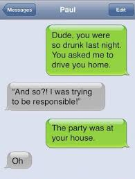 Funny Texting Jokes - being responsible