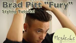 Frisuren Lange Haare Br Ett by Brad Pitt Fury Frisur Hairstyling Tutorial