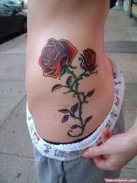 rose tattoo on ribs tattoo viewer com