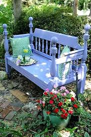 Bed Frame Bench Bed Frame Lavender Bench Outdoor Bench Decorating Ideas Garden