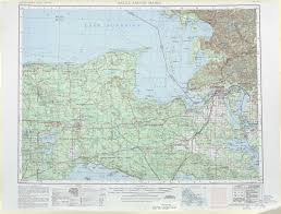 Map Of Upper Peninsula Michigan by Sault Sainte Marie Topographic Maps Mi Usgs Topo Quad 46084a1
