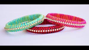 cross bracelet bangles images Silk thread criss cross bangle making video jpg