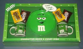 gift mugs with candy plain green m m s character mugs candy dish plate gift set