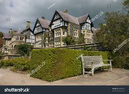 Tudor Style House Tudor Style House Gardens North Wales Stock Photo 29859667