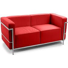 canapé le corbusier lc3 canapé simili 2 places inspiré lc3 le corbusier