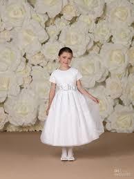 baby u0027s dress kids sleeveless party wedding white flower
