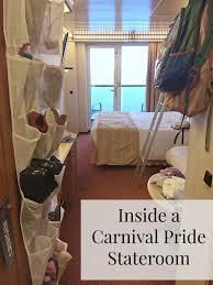 inside a carnival pride stateroom treks and trendstreks and trends